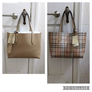 Burberry Camel Lavenby Reversible Tote